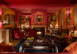 Living Room, Fornasetti, Louiis Phillipe, Fireplace, Billy Haines, Franz Joseph,