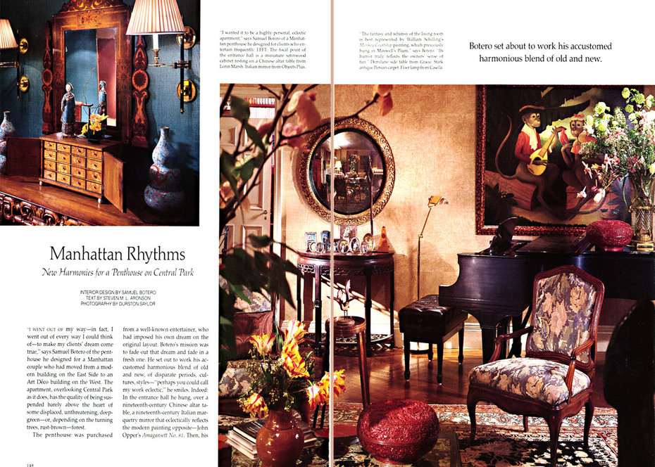 Architectural Digest,Foyer, Living room