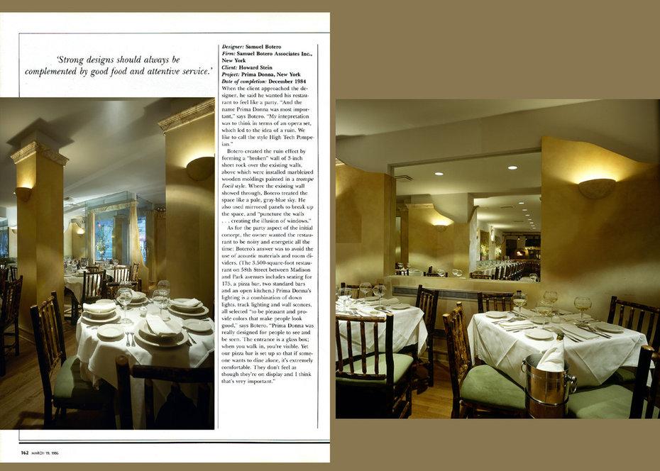 Inrerior Design, Primadonna, Restaurant, Commercial,