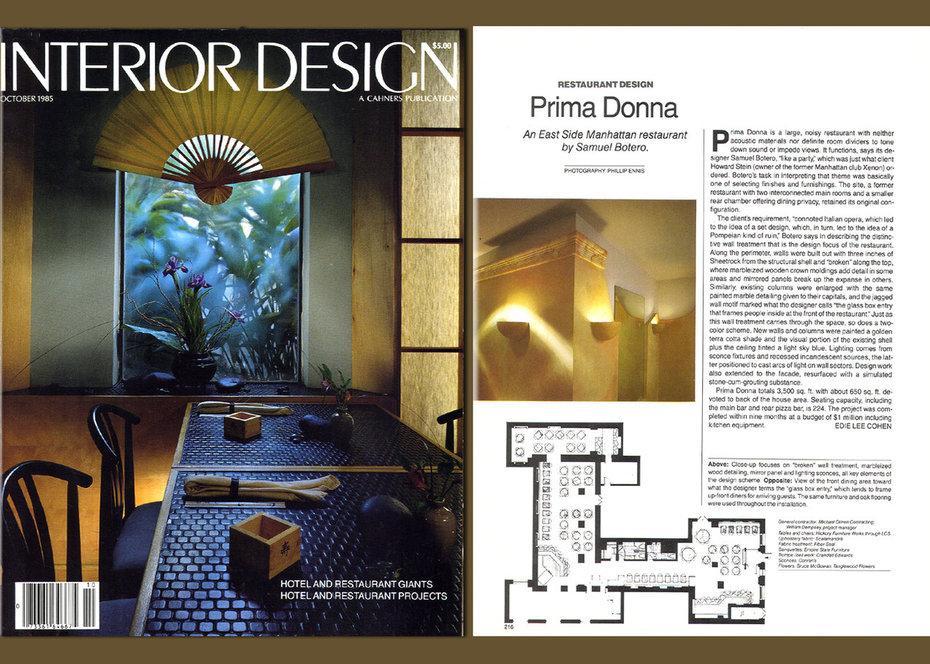 Inrerior Design, Primadonna, Restaurant, Commercial, Cover