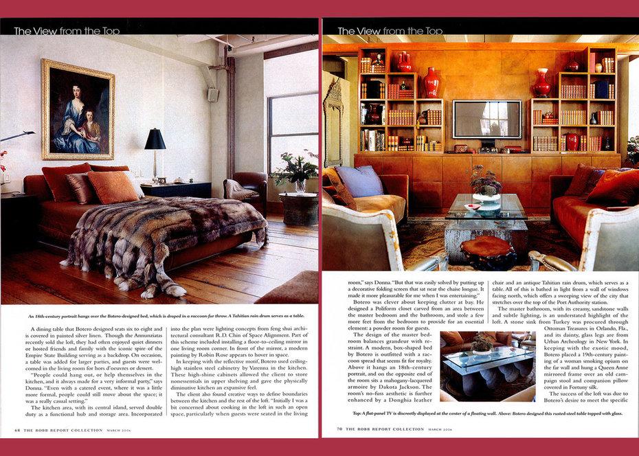 Robb Report,Loft, Bedroom, Library