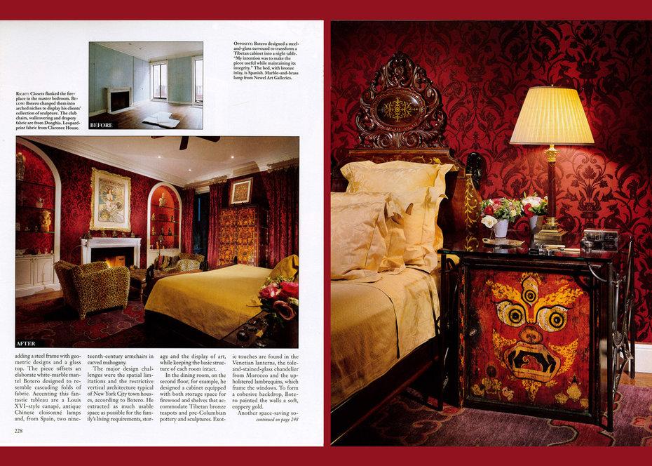 Architectural Digest, Manhattan Reorientation, Bedroom
