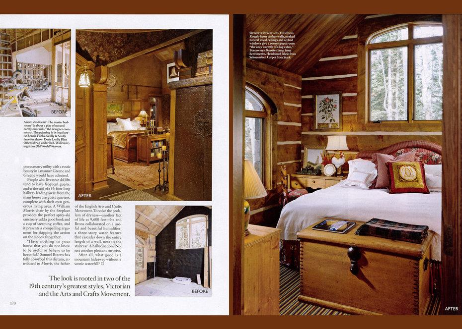 Architectural Digest, magazine, ski chalet
