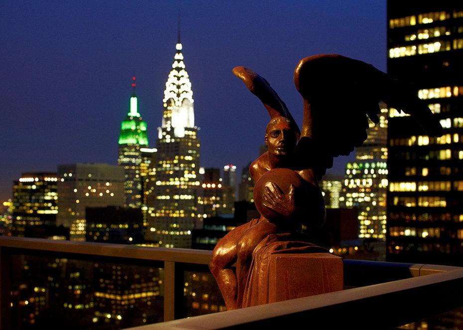 Panoramic, Empire State Building, Chrysler Building, Botero