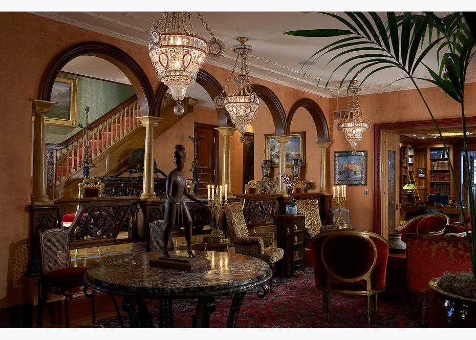 Belle epoque townhouse on riverside drive samuel botero for African style living room design