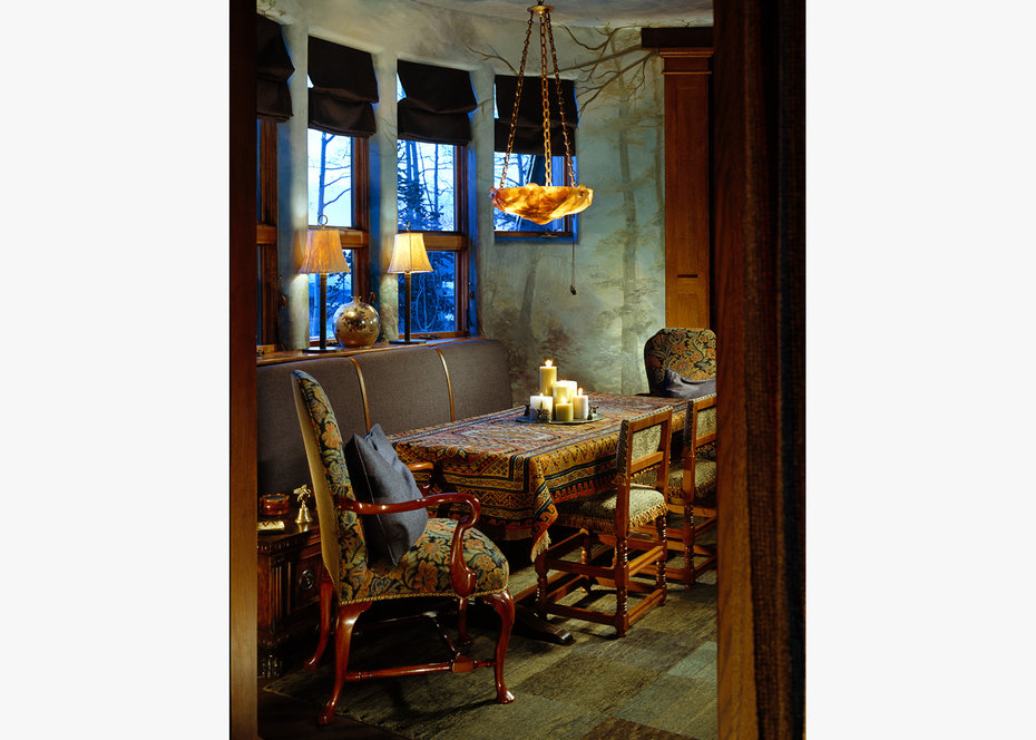 Breakfast Room,ROCKY MOUNTAIN, ARCHITECTURAL DIGEST